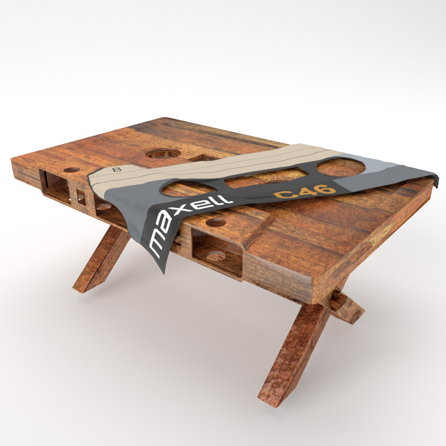 Table Cassette Tape Polygon Beater - Cassette coffee table